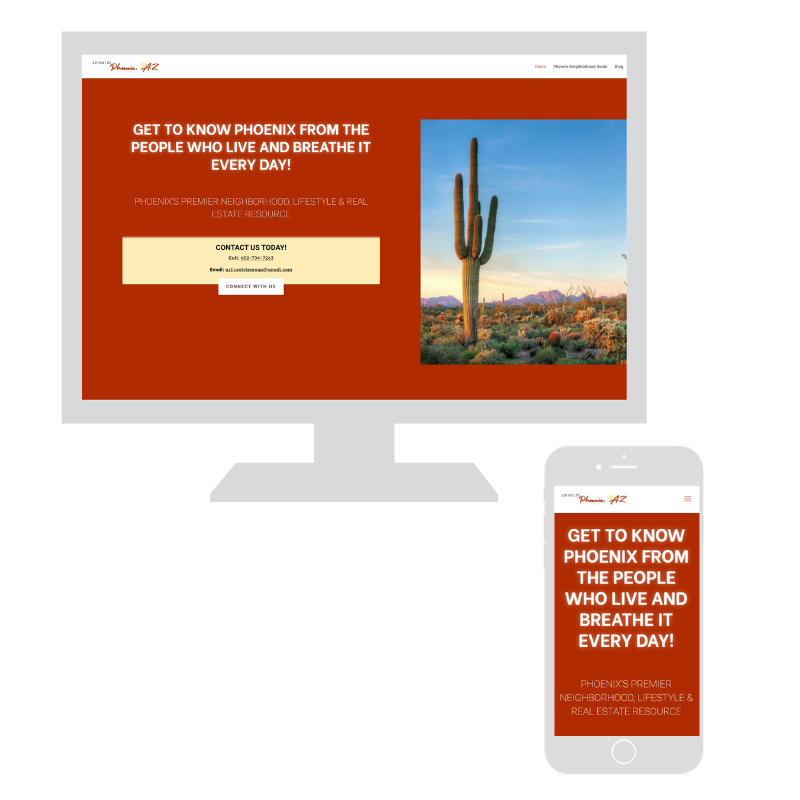 Upswing website design example, AZ Livestyle Group
