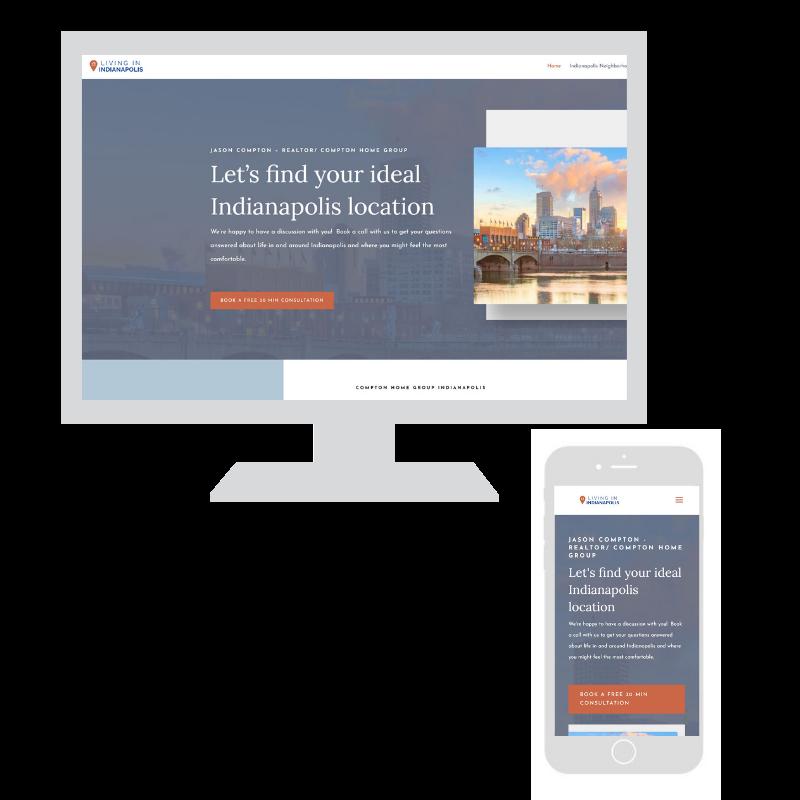 Upswing website design example, Compton Home Group