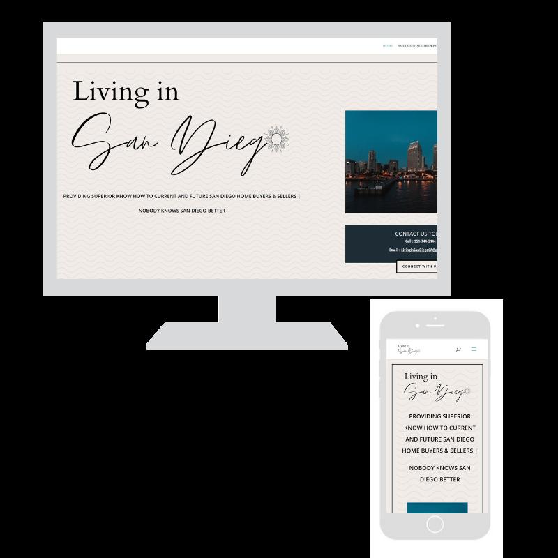 Upswing website design example, San Diego